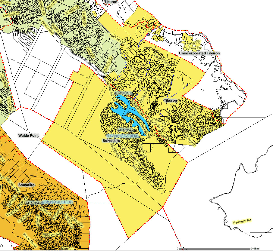 Sanitary District 5 of Marin County, California: Boundaries (LAFCO)